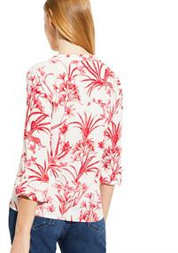 Comma blouse 81004192340 in het Wit/Rood