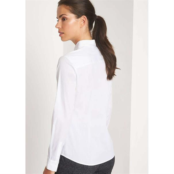 Comma blouse 81809118914 in het Wit