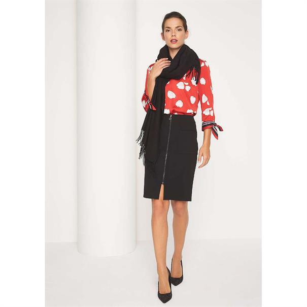 Comma blouse 81809192252 in het Rood