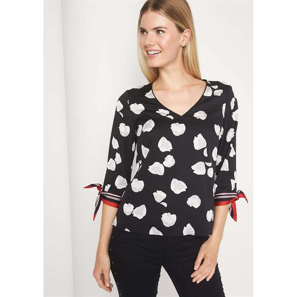 Comma blouse 81809192252 in het Zwart / Wit