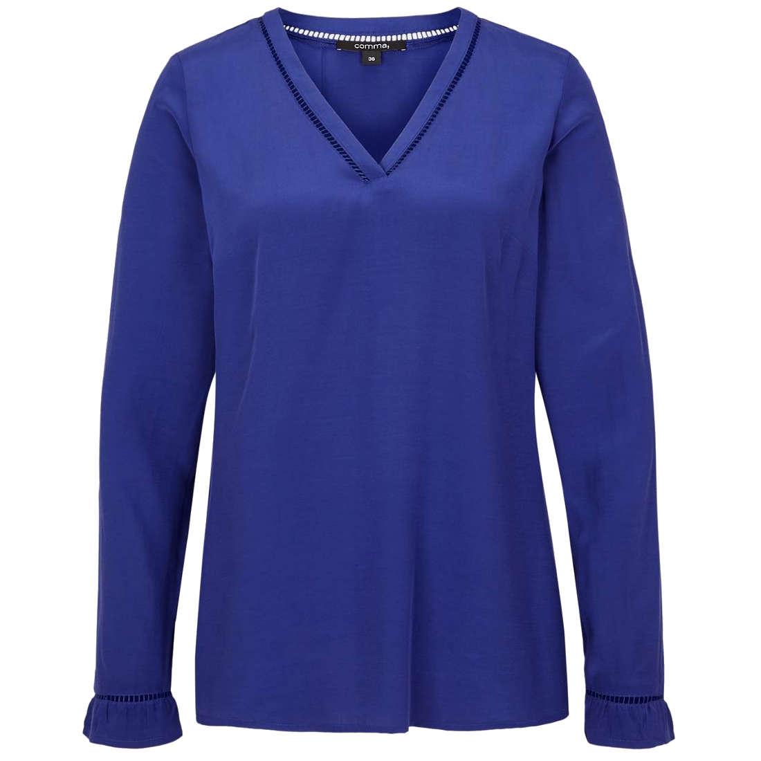 Comma blouse 81810118820 in het Blauw