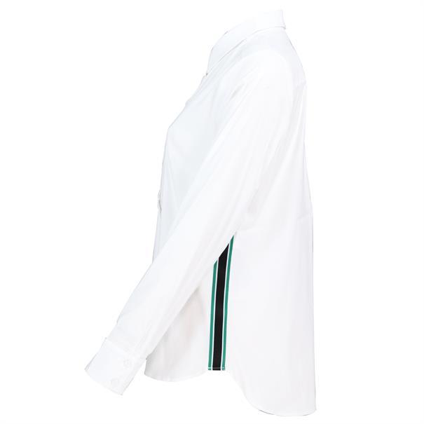 Comma blouse 81901112007 in het Wit
