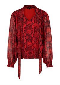 Comma blouse 81909112158 in het Rood