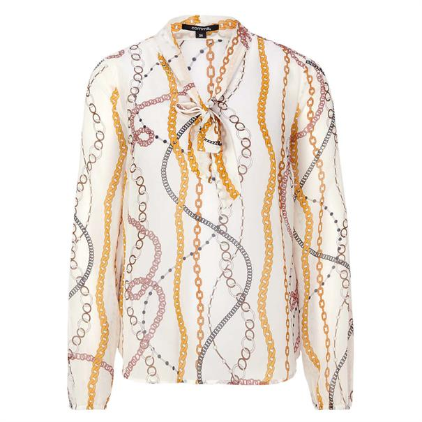 Comma blouse 81910112221 in het Donker Blauw
