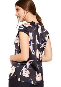 Comma blouse 85899120768 in het Donker Blauw