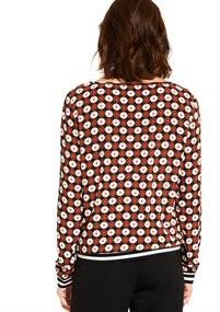 Comma blouse 88908112157 in het Brique