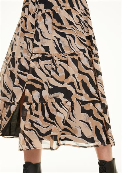 Comma jurk 2053787 in het Zwart / Wit