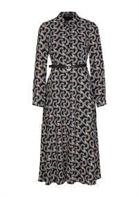 Comma jurk 2058702 in het Zwart / Wit