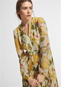 Comma jurk 2064121 in het Licht Geel