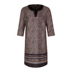 Comma jurk 85899820949 in het Zwart / Bruin