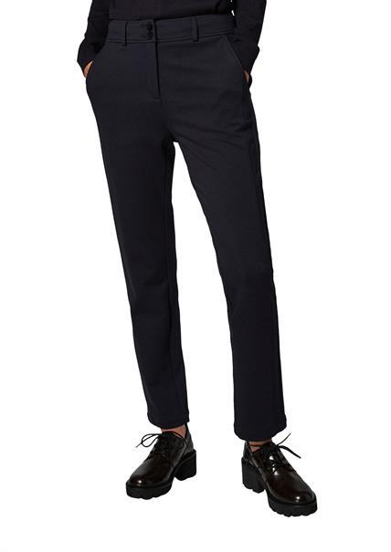 Comma pantalons 2106341 in het Marine