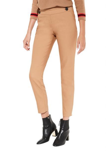 Comma pantalons 81909763256 in het Licht Bruin