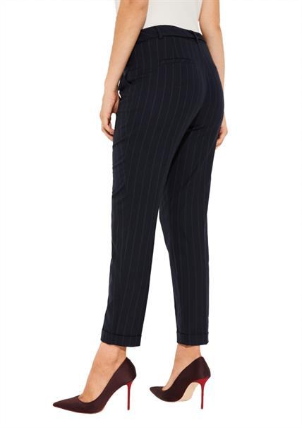 Comma pantalons 81910763445 in het Donker Blauw