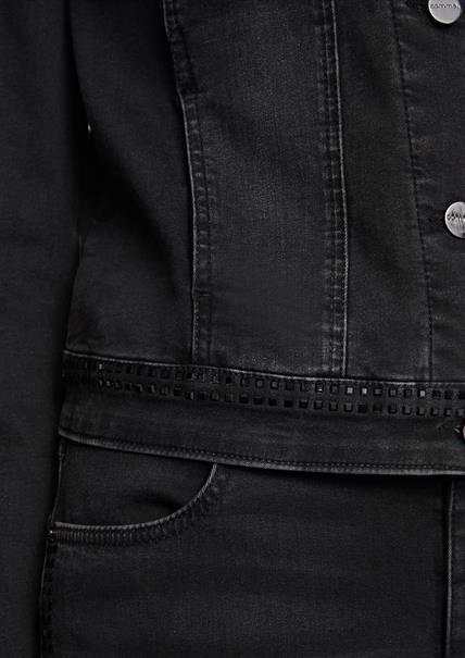 Comma spijkerjack 2047038 in het Zwart