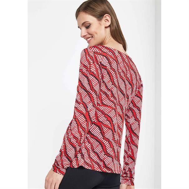 Comma t-shirt 81801313226 in het Rood