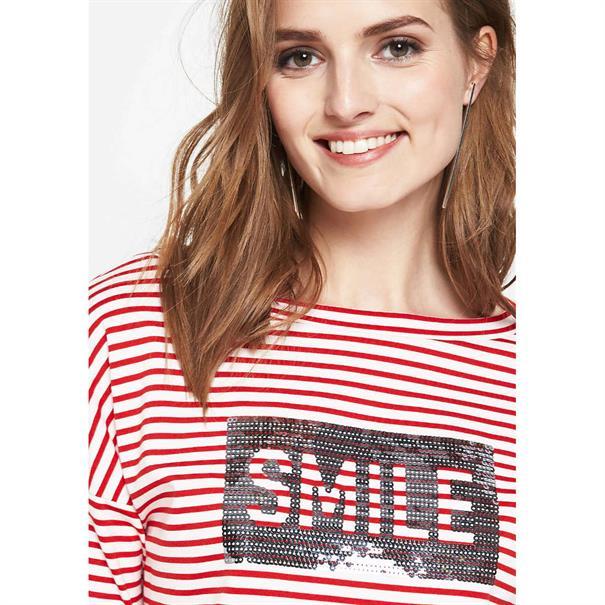 Comma t-shirt 81801392569 in het Rood