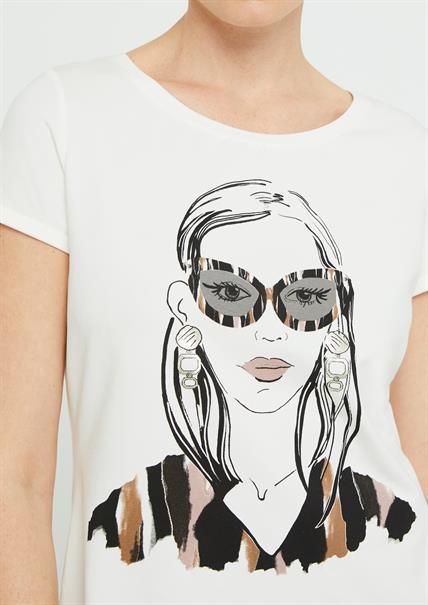 Comma t-shirts 2046577 in het Wit