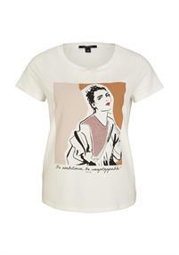 Comma t-shirts 2058188 in het Wit