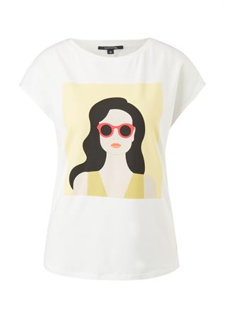 Comma t-shirts 2059707 in het Wit/Blauw