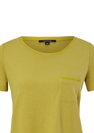 Comma t-shirts 2064980 in het Licht Groen