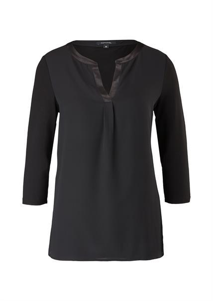 Comma t-shirts 2101475 in het Zwart