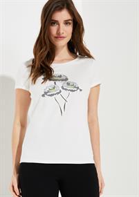 Comma t-shirts 81002323579 in het Wit