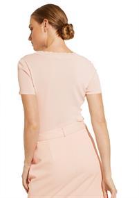 Comma t-shirts 81003623463 in het Roze