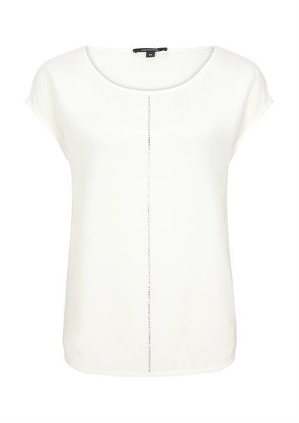 Comma t-shirts 81004323655 in het Wit