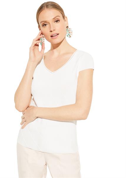 Comma t-shirts 81004625009 in het Wit