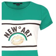 Comma t-shirts 81901323354 in het Groen