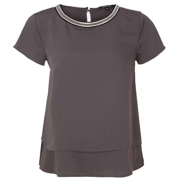 Comma t-shirts 81903122236 in het Antraciet
