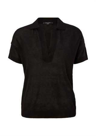Comma v-hals trui 2063578 in het Zwart