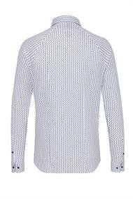 Desoto business overhemd Slim Fit 31607-3 in het Wit/Blauw