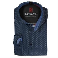 Desoto business overhemd Slim Fit 50608-3 in het Donker Blauw