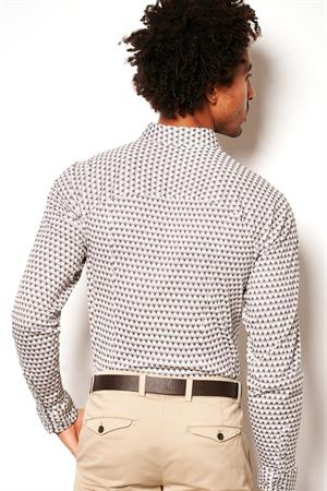Desoto casual overhemd 48107-3 in het Offwhite