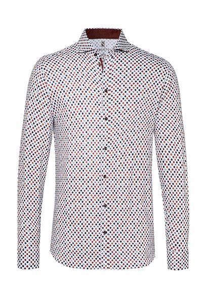 Desoto casual overhemd Slim Fit 38507-3 in het Wit