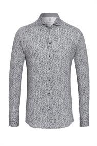Desoto casual overhemd Slim Fit 39007-3 in het Licht Grijs