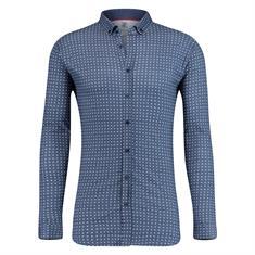 Desoto casual overhemd Slim Fit 80113-3 in het Blauw