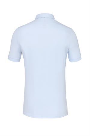 Desoto jersey overhemd Slim Fit 33731-3 in het Wit