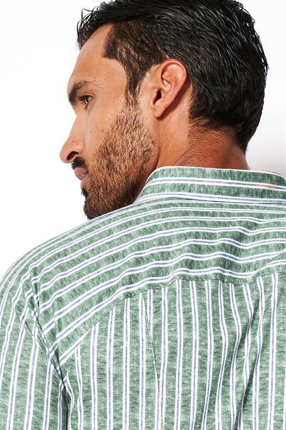 Desoto jersey overhemd Slim Fit 43107-3 in het Groen