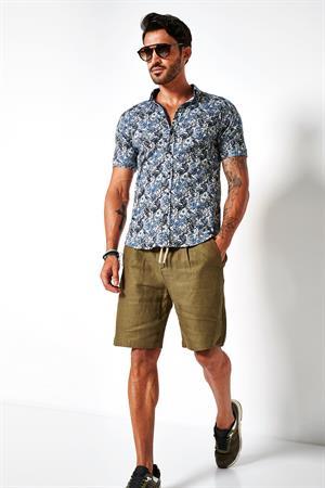 Desoto jersey overhemd Slim Fit 43131-3 in het Army