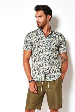 Desoto jersey overhemd Slim Fit 43131-3 in het Groen