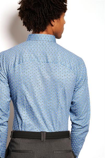 Desoto jersey overhemd Slim Fit 47113-3 in het Blauw
