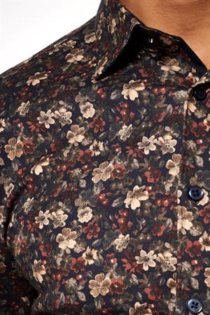 Desoto jersey overhemd Slim Fit 48328-3 in het Groen