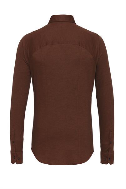 Desoto jersey overhemd Slim Fit 97007-3 in het Bruin