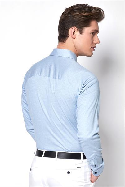 Desoto jersey overhemd Slim Fit 97007-3 in het Licht Blauw