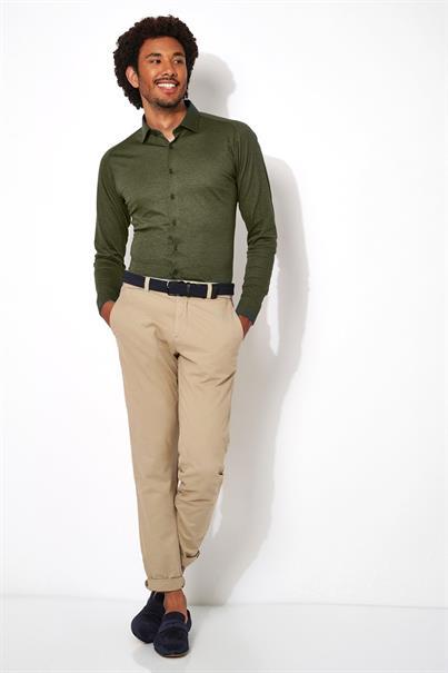 Desoto jersey overhemd Slim Fit 97028-3 in het Groen