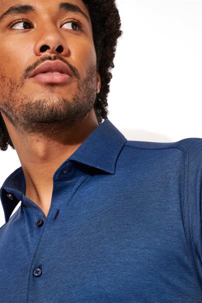 Desoto jersey overhemd Slim Fit 97028-3 in het Indigo