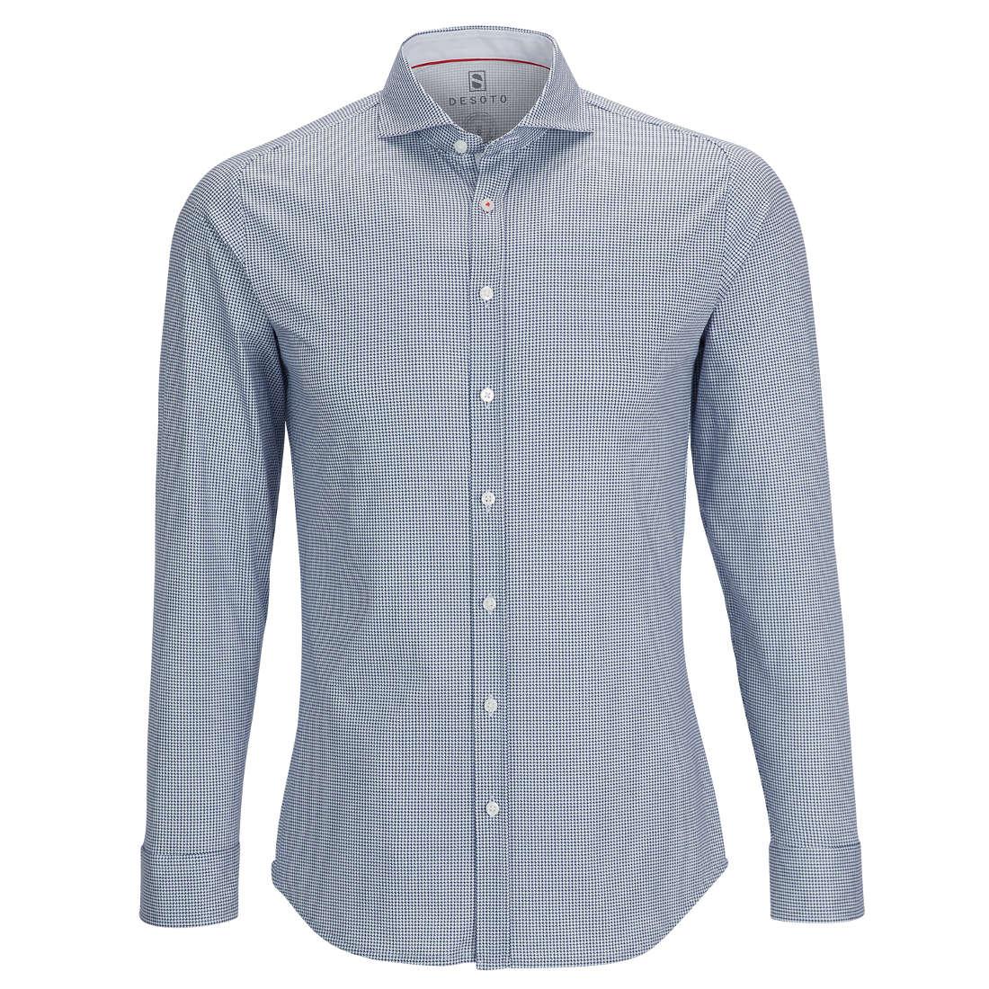 Desoto overhemd Slim Fit 21308-3 in het Donker Blauw