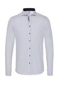 Desoto overhemd Slim Fit 31607-3 in het Wit/Blauw